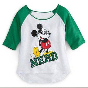 Authentic Disney park stores Mickey Nerd t shirt M